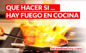 incendios en cocina sarten